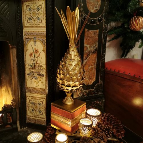 Golden Christmas Pineapple