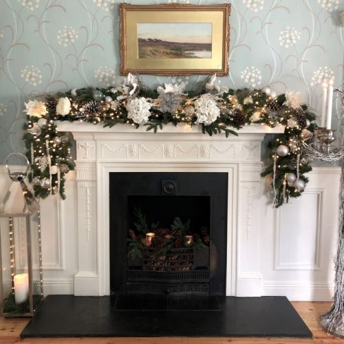 Luxury White Franc Christmas Garland