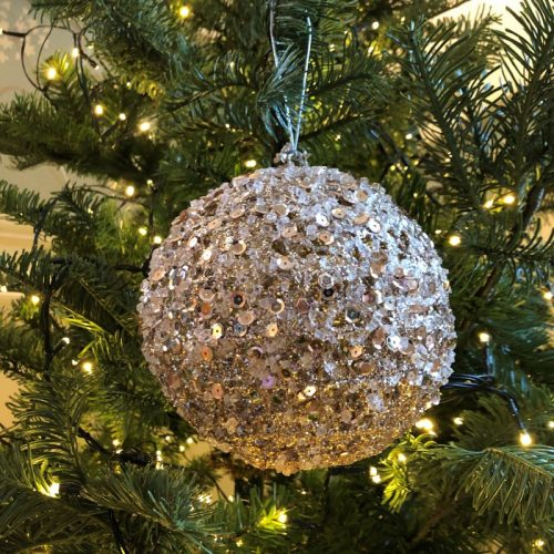 Gold Sequin ball