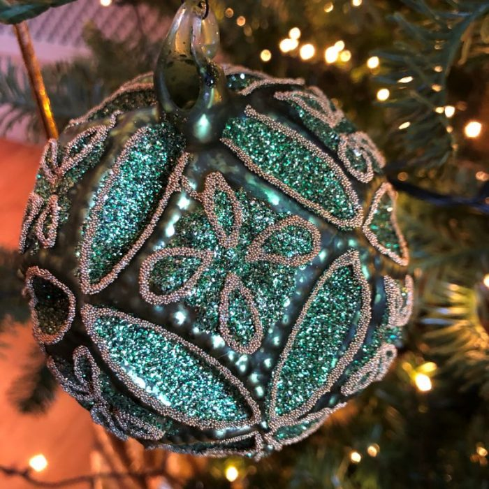 Green Floral Bauble1